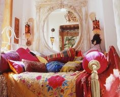 Romantic Bedroom design ideas and photos to inspire your next home decor project or remodel. Check out Romantic Bedroom photo galleries full of ideas for your home, apartment or office. Gypsy Decor, Boho Gypsy, Bohemian Decor, Gypsy Chic, Gypsy Bed, Boho Chic, Hippie Chic, Gypsy Room, Bohemian Room