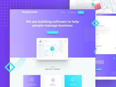 Marketing App Landing Page designed by Rono. Connect with them on Dribbble; the global community for designers and creative professionals. Landing Page Examples, App Landing Page, Landing Page Design, Web Design Company, App Design, Web Layout, Layout Design, Ui Design Patterns, Coach Website
