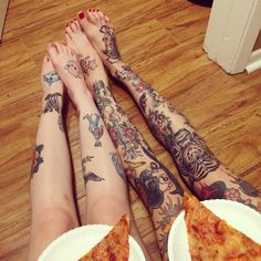 Friends with tattoos