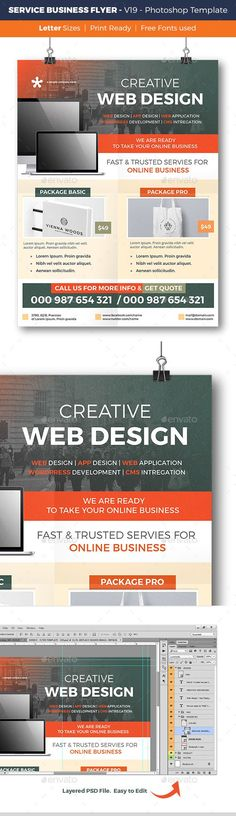 Business Flyer Poster Magazine Template Business flyers, Template