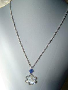 Swarovski Crystal Snowflake Pendant by lindasoriginaljewels, $25.00