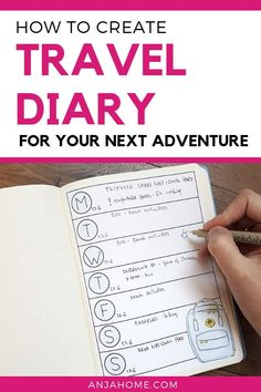 Learn how to make a travel diary and keep your travel memories in one place anjahome bulletjournal planner planning a travel bujo layout ideas 29906785012473873 Travel Planner, Travel Album, Travel Trip, Travel Stuff, Travel Destinations, Travel Capsule, Planner Organization, Organizing Ideas, F 16