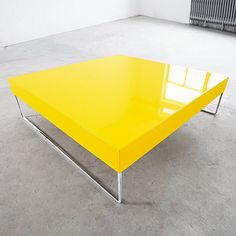 49 Super ideas for apartment living room yellow coffee tables Yellow Coffee Tables, Yellow Table, Unique Coffee Table, Contemporary Coffee Table, Coffee Table Design, Modern Contemporary, Modern Design, Yellow Bedroom Furniture, Mod Furniture