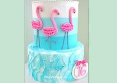 Flamingo Cake Tutorial by MyCakeSchool.com!  Member Video.