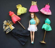 Vintage 1970's Topper Dawn Doll w/6 Outfits-Sheer Delight -TWINKLE TWIRL + | eBay