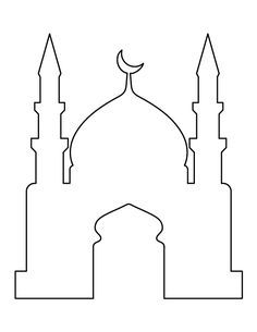 Use the printable outline for crafts, creating stencils, scrapbo Mosque pattern. Use the printable outline for crafts, creating stencils, scrapbo… Eid Crafts, Ramadan Crafts, Ramadan Decorations, Diy And Crafts, Decoraciones Ramadan, Ideas Scrapbook, Aladdin Party, Ramadan Lantern, Islam For Kids