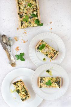 Spinach Feta Pine Nut Tart | The White Ramekins