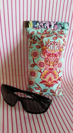 Made Adorable Glasses Case With Cuff From Diy Double Sided