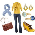 Yellow + blue casual look, minus the shoes