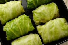 Stuffed Cabbage Recipe  head Napa cabbage 1/2 cup brown rice, cooked 4 tsp minced garlic 1 tsp ground ginger 2 scallions, thinly sliced 4 oz mushroom, chopped 1/4 tsp red pepper flakes 1 Tbsp soy sauce 1 Tbsp oil Combine ingredients in leaves and place in baking dish at 400 for 30 mins.  Cover with foil.