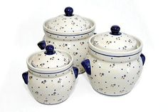 Polish Pottery Country Meadow Large Canister Set -- Check this awesome product by going to the link at the image.(This is an Amazon affiliate link and I receive a commission for the sales)