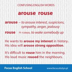 The confusing English words: arouse, rouse