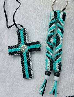Boondoggle Cross and Key Chain