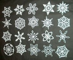 Snowflakes and more snowflakes!  Learn how to make these beautiful snowflakes here...