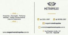 JORNAL AÇÃO POLICIAL TATUÍ E REGIÃO ONLINE: MAGAZINE METRÓPOLES Rua. Brigadeiro Jordão, 147 Bairro 400 - Tatuí - SP e-mail: contato@magazinemetropoles.com.br Site: www.magazinemetropoles.com.br tel: (15) 3251-1997 / 99789-1997