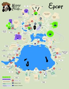 Kenny The Pirate Character Locator - EPCOT Map