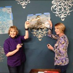Sweetheart host Cristina Ferrare was super happy with her stenciling at the Home & Family show taping! Check us out this morning (3/11) at 10/9c on the Hallmark Channel USA! :)