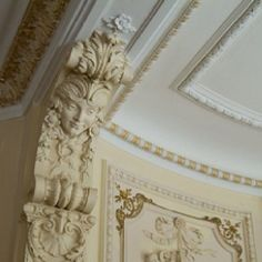 Crown moulding & decorated ceiling