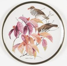 Franklin Mint Songbirds of the World: Wood Thrush - Artist: Arthur Singer