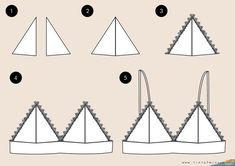 Triangle lace bras - Triangle lace bras Best Picture For diy face mask sewing pattern For Your Taste You are looking f - Fashion Sewing, Diy Fashion, Fashion Dresses, Diy Kleidung Upcycling, Tops Diy, Diy Bralette, Costura Fashion, Diy Mode, How To Make Clothes