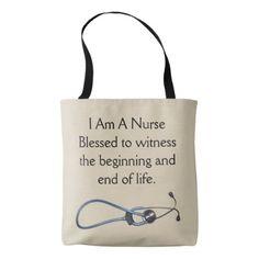 I Am A Nurse Medium Tote - accessories accessory gift idea stylish unique custom