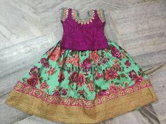 Sea Green Floral Print Lehenga - Indian Dresses