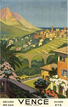 Roger Broders (1883-1953): Vence, 1930