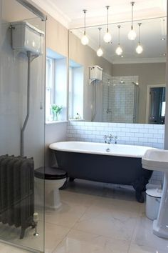 mirrored bathroom wall
