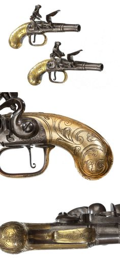 A PAIR OF FLEMISH POCKET PISTOLS BY H. DEVILLERS OF LIEGE, circa 1760.