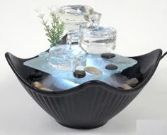 pretty table top fountain - gorgeous. Wonder if I could make something similar?