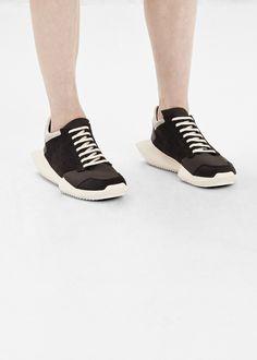 Rick Owens Rick Owens X Adidas Tech Runner Sneaker (Black / White)