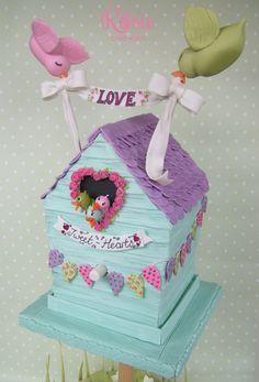 Bird House Gravity Cake