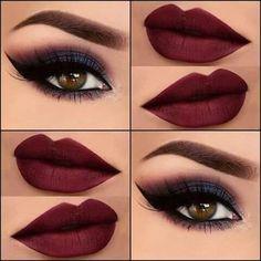136 best maroon matte lipstick shades to look stunningly beautiful – page 15 Eye Makeup Steps, Makeup Eye Looks, Smokey Eye Makeup, Skin Makeup, Eyeshadow Makeup, Highlighter Makeup, Makeup Brushes, Maybelline Concealer, Maybelline Superstay