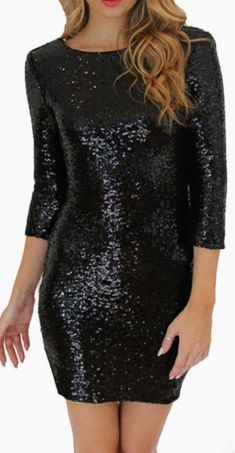 Cheap mini dress, Buy Quality dress women directly from China party dress women Suppliers: Bodycon Slim Pencil Party Dresses Women O-Neck Long Sleeve paillette Sequins Backless Sexy Club Mini Dress Sheath Solid Robe Club Dresses, Sexy Dresses, Short Dresses, Fashion Dresses, Party Dresses, Woman Dresses, Summer Dresses With Sleeves, Summer Dresses For Women, Vestidos Sexy