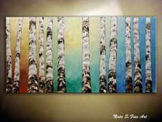 Birch Trees Painting Landscape Painting.Birch by NataSgallery