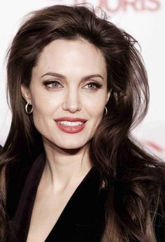 Angelina Jolie @ the Tourist Premiere 2010, Long Brunette, Natural Wave Hairstyle