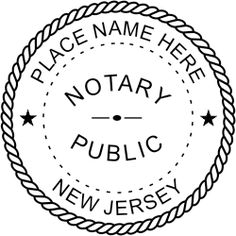 New Jersey Notary rubber stamp