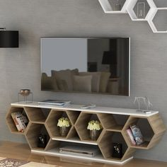 Wall Unit Designs, Living Room Tv Unit Designs, Tv Wall Design, Shelf Design, Küchen Design, Tv Stand Designs, Cabinet Design, Tv Unit Furniture, Home Decor Furniture