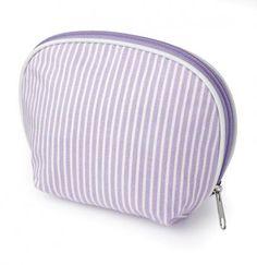 Striped Cotton Make Up Bag