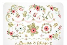 Rose and Gold Valentine Florals By Kelly Jane Creative