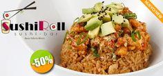 Sushi Roll en Valle Dorado - $45 en lugar de $90 por 1 Exquisito Yakimeshi Especial con Camarón Capeado, Aguacate y Queso Crema. Clic: CupoCity.com