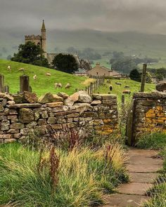 ~Misty Morning over St. Margarets Church at Hawes in the Yorkshire Dales~🍁. ~Misty Morning over St. Margarets Church at Hawes in the Yorkshire Dales~🍁🌿 Beautiful image by Yorkshire England, Yorkshire Dales, Cornwall England, North Yorkshire, England Countryside, British Countryside, Beautiful Landscapes, Beautiful Images, Places To Travel