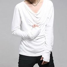 Buy 'JVR – Long-Sleeve Drape-Front T-Shirt' with Free International Shipping at YesStyle.com. Browse and shop for thousands of Asian fashion items from China and more!