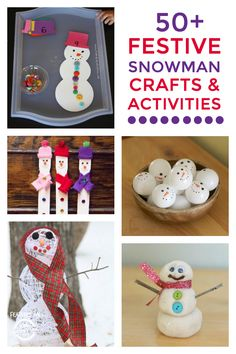 Celebrating winter and all things cold with these snowman crafts, activities and snacks!