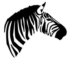 Free Svg File of Zebra side view face Stencils, Silhouette Cameo Projects, Pink Zebra, Svg File, Vector File, Portraits, Cutting Files, Illustration, Vinyl Decals