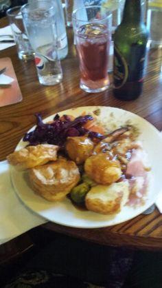 Toby carvery London England.  Proper roast dinner. #yorkshirepuddingsrock