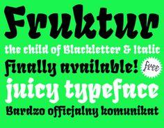 Vedi questo progetto @Behance: \u201cFruktur Typeface. The child of black letter & italic\u201d https://www.behance.net/gallery/7970917/Fruktur-Typeface-The-child-of-black-letter-italic