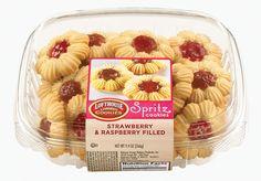 Strawberry & Raspberry Filled Spritz Cookies