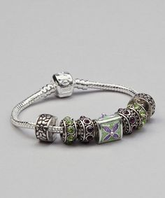 Take a look at this Silver Macy Charm Bracelet by Chatti Catti on #zulily today! $17 !!