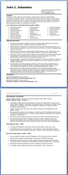 Pin by Yolanda Thomas on Electrical engineering Pinterest - resume job summary